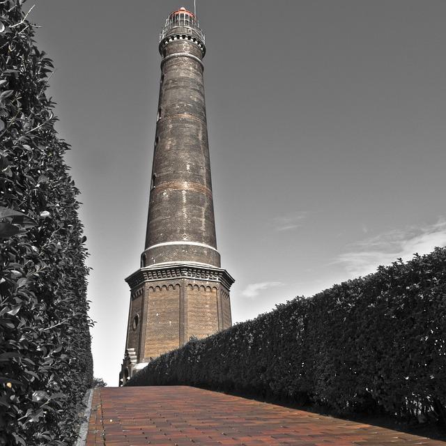 Borkum, Lighthouse, New Lighthouse, Island, Coast