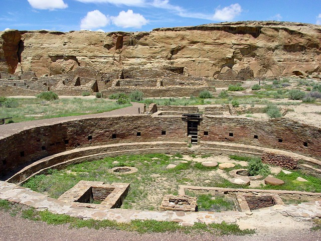 Chaco Canyon, New Mexico, Mountains, Ruins