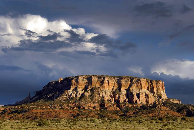 Desert, Mesa, New Mexico, Us, Stormy, Landscape, Travel