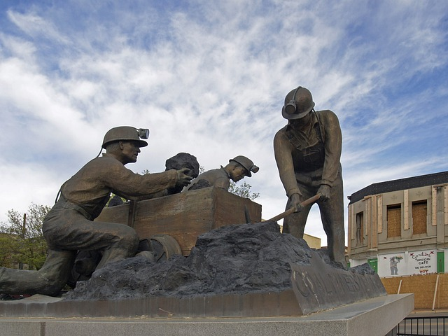 Statue, Trinidad, New Mexico, Usa, Coal Miner, Mining