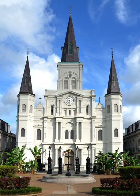 New Orleans, Park, Cathedral, Louisiana, Historic