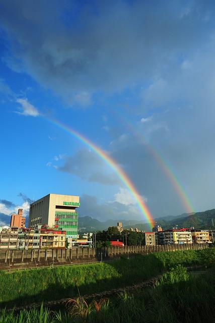 New Taipei City, The New Store Area, Rainbow, Sky