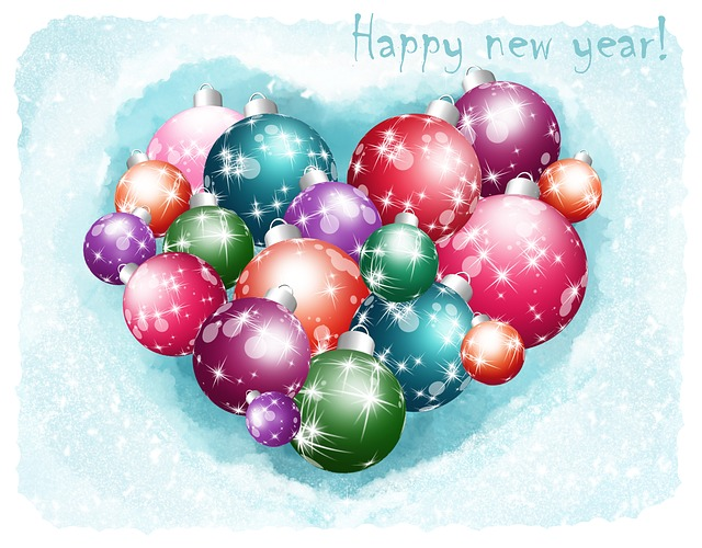New Year, Christmas, Holiday, Postcard, Background