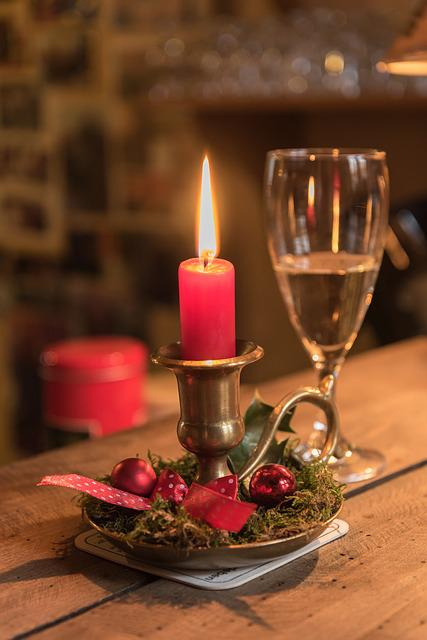 Candle, Champagne, Champagne Glass, New Year's Day