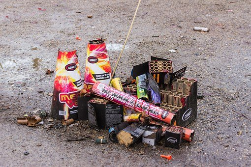Fireworks, Pyrotechnics, Used, Rocket, New Year's Eve
