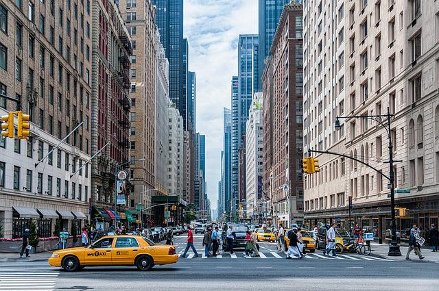 Architecture, New York City, Manhattan, Buildings, Cars