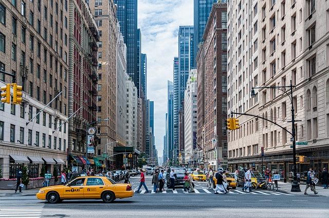 Architecture, New York City, Manhattan, Buildings, Cars