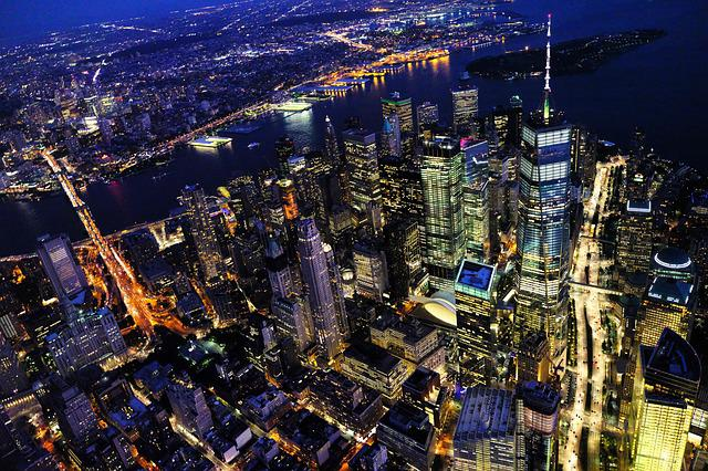 New York, Cityscape, Night, City, Manhattan