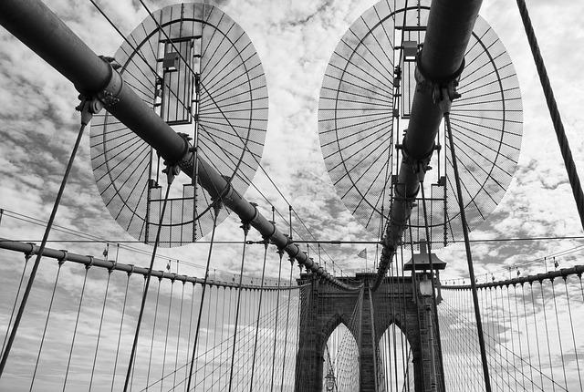 Steel, Bridge, Brooklyn Bridge, New York, Manhattan