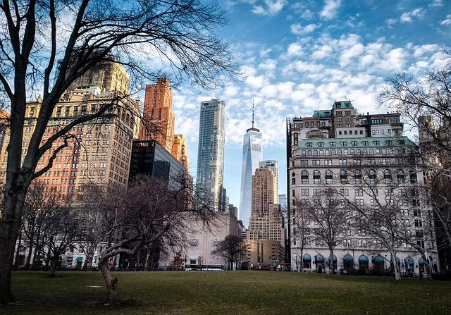 Architecture, City, Tree, Sky, Old, New York, Usa