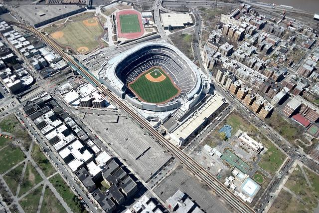 Aerial, Yankee, Stadium, New, York, Baseball