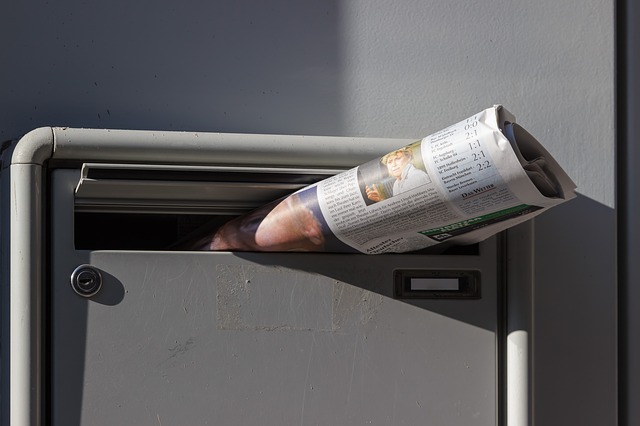 Newspaper, Newspaper Delivery, Mailbox, Morning, News