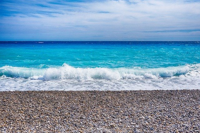 Sea, Nice, Wave, South Of France, France, Mediterranean