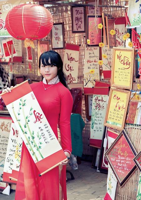 Calligraphy, Spring, Women In Vietnam, Nice Picture