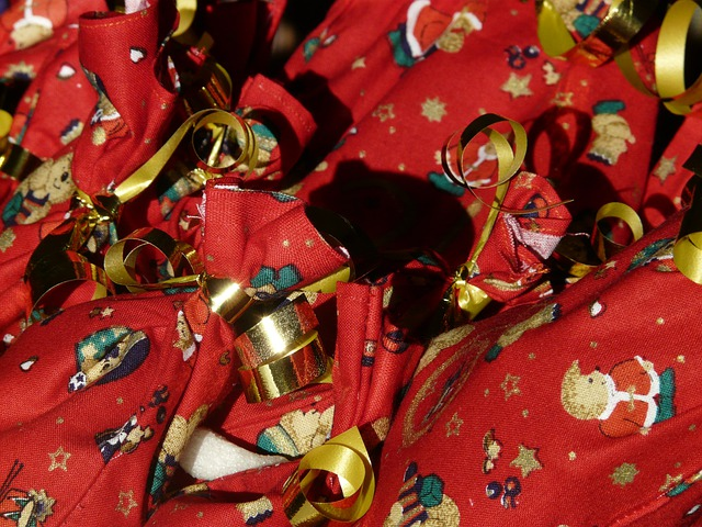 Advent Calendar, Nicholas, Packed, Made, Bag, Red