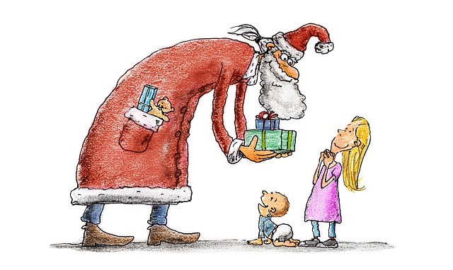 Nicholas, Children, Gifts, Christmas, Santa Claus
