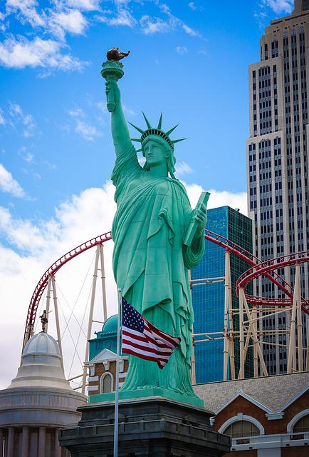Vegas, New York, Hotel, City, Night, Travel, America
