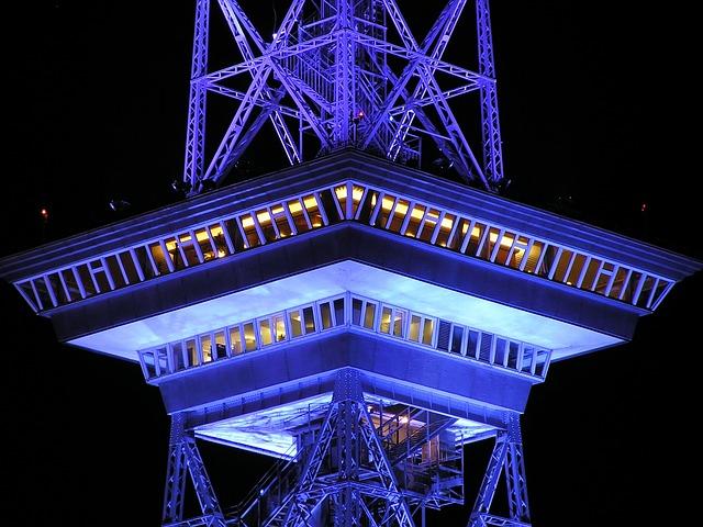 Radio Tower, Berlin, Night, Building, Architecture