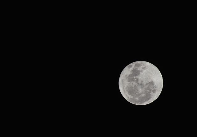 Moon, Full Moon, Night, Sky, White Moon, Bright Moon