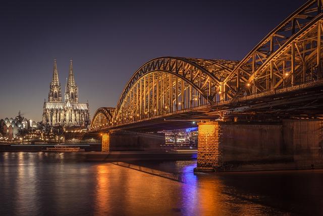Cologne, Cathedral, Bridge, Night, River