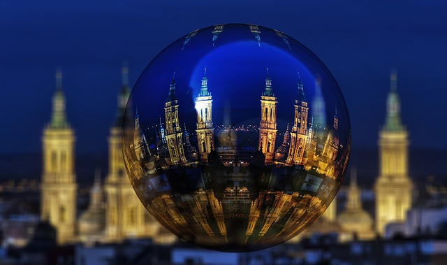 Zaragoza, Pillar, Night, Cathedral, Church, Spain