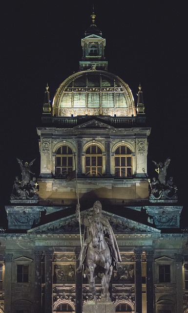 Prague, Night, Architecture, Building, Czech Republic
