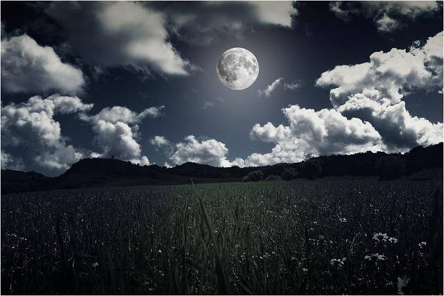 Landscapes, Moon, Night, Full Moon, Sky, Sky And Moon