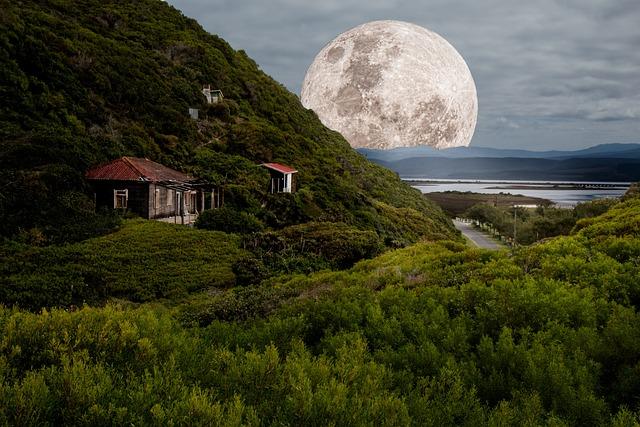 Supermoon, Full Moon, Moonlight, Night, Moon, Lunar