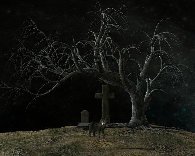 Cemetery, Night, Atmosphere, Weird, Moon, Grave Stones