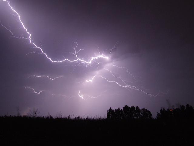 Lightning, Storm, Night, Firebird, Hortobágy