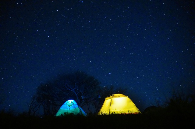 Starry Sky, Tent, Night, Interstellar