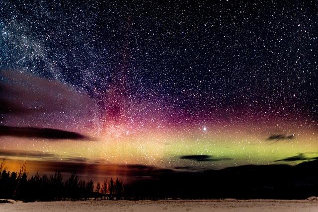 Aurora, Borealis, Night, Northern, Sky, Landscape