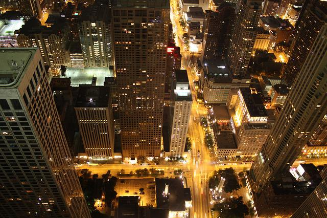 Junction, Night Life, Chicago, Skyline, Night, City