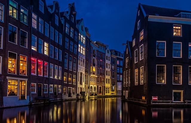 Amsterdam, Rio, City, Europe, Netherlands, Night