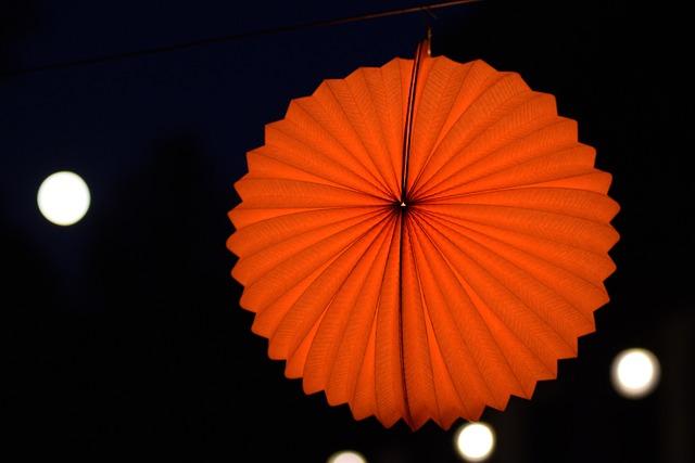 Night, Balloon, Night Lampion, Orange