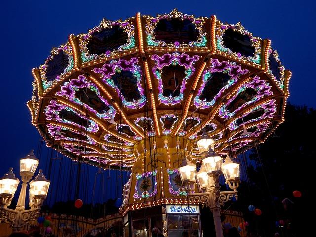 Bremer Freimarkt, Year Market, Fair, Night Photograph