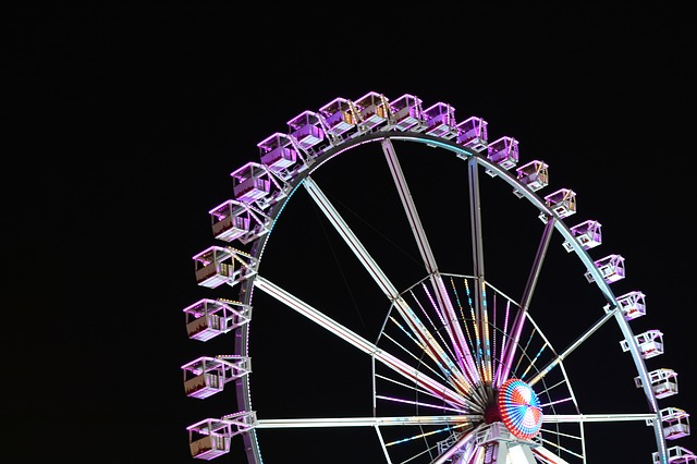 Night Photography, Ferris Wheel, Free Market