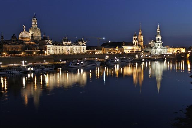 City, Night, City Lights, Night Photography, Dresden