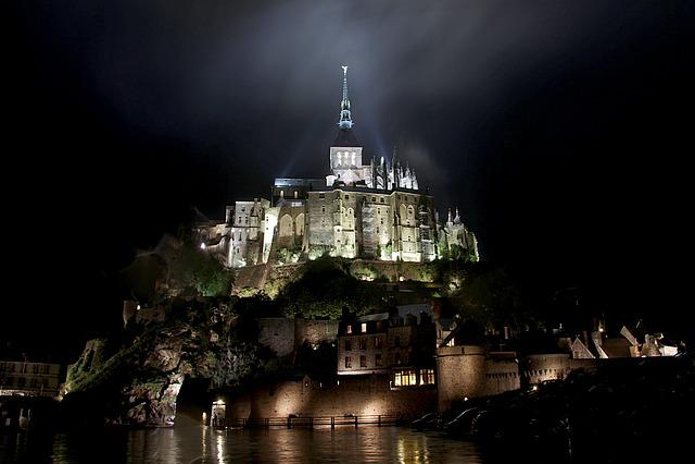 Night Shot St Michel, St Michel, Brittany