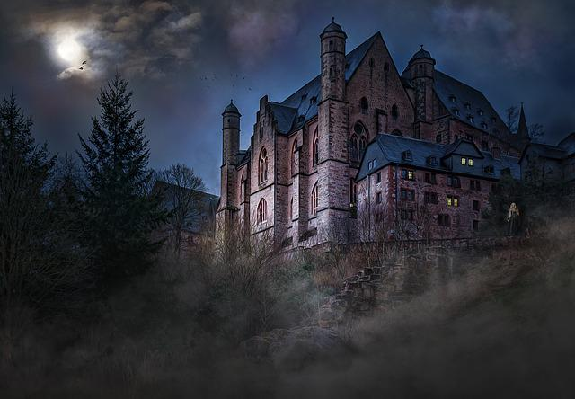 Castle, Mystical, Mood, Moonlight, Night Sky