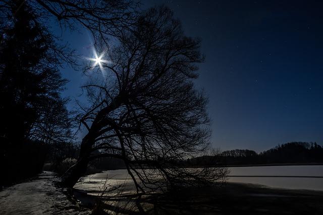 Star, Moon, Night Sky, Night, Sky, Good Night, Blue