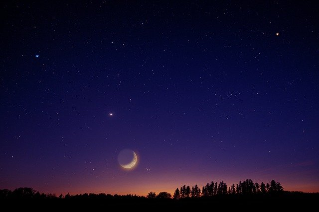 Sky, Star, Moon, Venus, Universe, Night, Night Sky