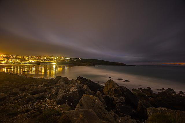 St Ives, Low Tide, Night, Ocean, England