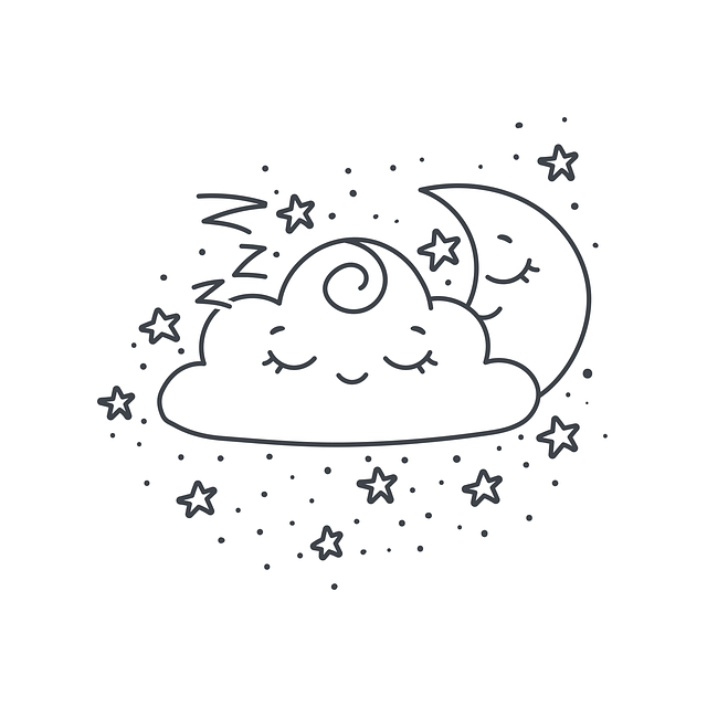 Cloud, Dream, Star, Night, Moon, Cute, Smile, Joy