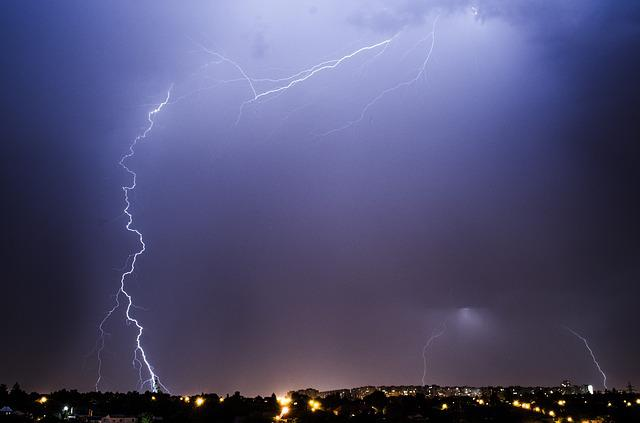 Lightning, Thunderstorm, Discharge, Night, Storm, Flash