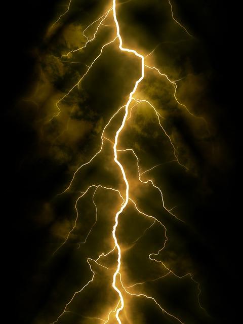 Flash, Night, Thunderstorm, Light