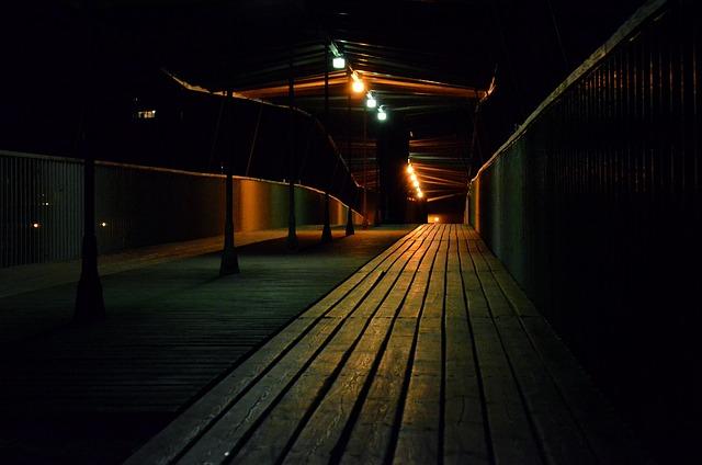 Bridge, Night, Architecture, Urban, Evening, Light