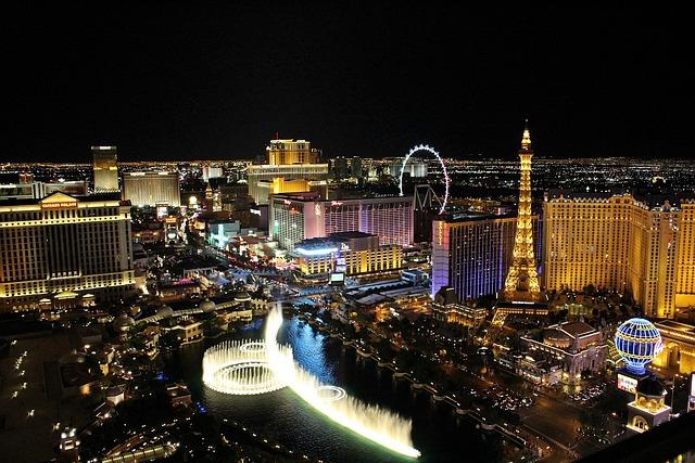 Las Vegas, Gambling, Games, City, Night View, Colorful