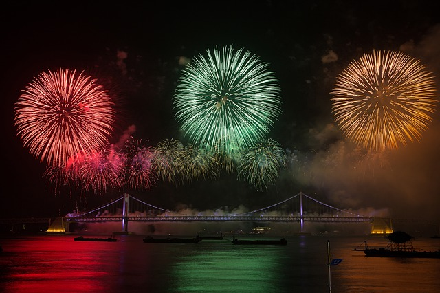 Flame, Festival, Night View, The Night Sky, Sea, Bridge