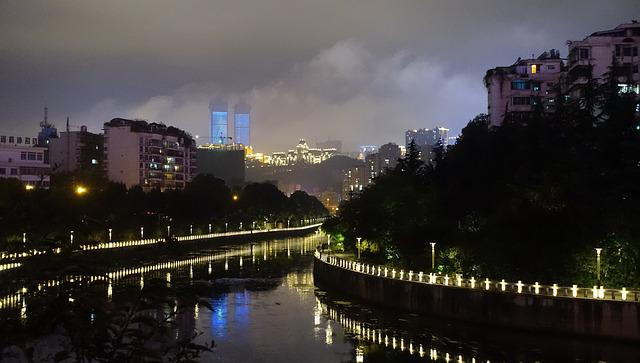 Guizhou, Guiyang, Night View